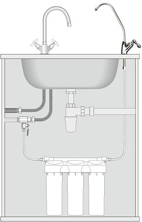 Принципиальная схема подключения фильтра Praktic EU305